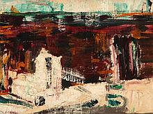 Ole Heerup, Abstract Painting 'Little byslot', Denmark, 1976