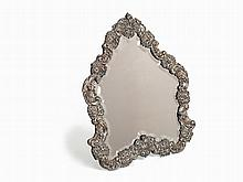 Silver Standing Mirror with finely wrought frame, Vienna, 1850