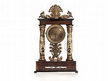 Handpainted Viennese Mantel Clock, Around 1850