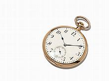 Longines Gold Open Face Pocket Watch, Switzerland, C. 1902