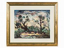 Marc Sterling, Trees at night, Mixed Media, around 1950/60