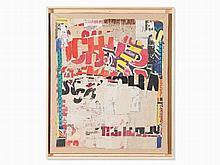 Arthur Aeschbacher (b. 1923), Rue Foraine, Collage, 1963
