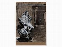 Christo & Jeanne-Claude, Sleeping Faun, Mixed Media, 2000