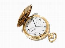 Longines Gold Chronometer Hunter Watch, C. 1914