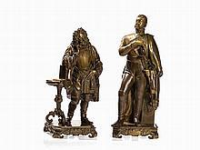 Karoly Alexy, Two Bronzes, Prince Eugene & Schwarzenberg, 1844