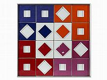 Victor Vasarely (1906-1997), Valor R, Porcelain Relief, 1971