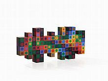 Victor Vasarely, Eksin, Standing Object, Multiple, 1978