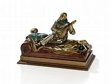 Vienna Bronze Erotica 'Mandolin Playing Harlequin', c. 1920