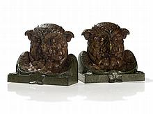Bergmann Vienna Bronze, Pair of Owl Book Ends, around 1890
