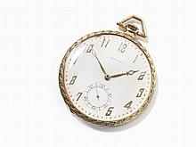 Movado, 14K Gold Tailcoat Pocket Watch, Switzerland, c. 1920