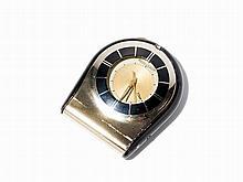 Jaeger LeCoultre Travel Alarm Clock, Switzerland, Around 1950