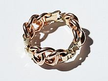 Bracelet in rose gold and gold in the classical 50ies look
