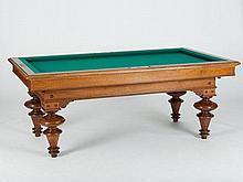 Antique Billard-table by Friedrich Seffers, 1883