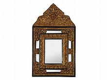 Large Baroque Style Mirror with Ebonised & Brass Frame, c. 1880