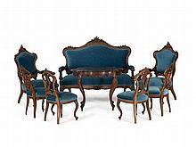 Salon Furniture Suite, Louis-Philippe, France, around 1850/60