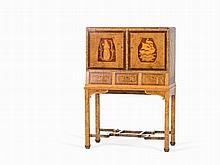 Art Déco Drinking Cabinet with Inlays, Sweden, circa 1930