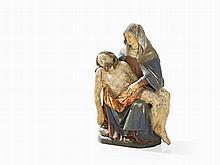 Pietà, Wood Sculpture, South Germany, c. 1700