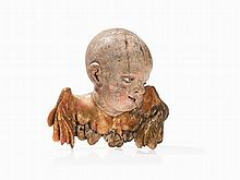 A Large Winged Angels Head, Wood, Southern Germany, 18th C.