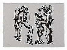 Ossip Zadkine, Deux Figures, Lithograph, 1969