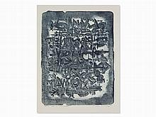 Théo Kerg, pas un mot tender, Color Lithograph, 1966