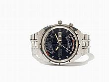 Wittnauer Worldtimer 2000 Wristwatch, Japan, Around 1975