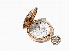 IWC Gold Hunter Watch With Chain, Switzerland, Around 1905