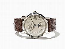 Trematic Bidynator Full Calendar Wristwatch, Around 1952