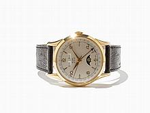 Aube Le Locle Full Calendar Wristwatch, Around 1980