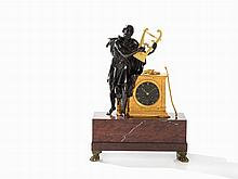 Marti, Figural Bronze Mantel Clock 'Homer', Paris, 19th C