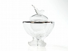 Lalique, Extravagant Caviar Dish 'Igor' with Dolphins, 20th C