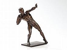 Ernst Seger, Bronze Sculpture 'Shot-Putter', Lauchhammer, 1920s