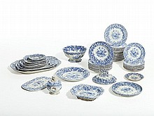 Spode, 67-Piece Service, 'Blue Room Garden Buffet', 19th C