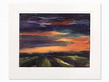 Paul Herbert Beck, Abendrot II, Watercolor, 2nd H. 20th C.