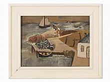 Harald Metzkes (b. 1929), Island Usedom, Oil, 1990s