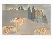 Fabrizio Clerici(1913-1993), Gli Arieti Di Böcklin, Oil, 1975