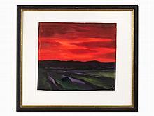 Paul Herbert Beck, Abendrot I, Watercolor, 2nd H. 20th C.
