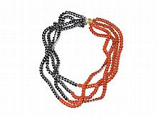 Tiffany & Co., Hematite & Red Jasper Bead Necklace, 1980