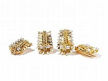 Van Cleef&Arpels;, Set of Gold and Diamond Dress Clips, c. 1950
