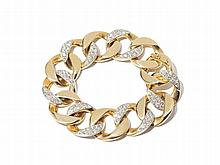 Van Cleef & Arpels, Diamond Curb-Link Bracelet, 1950s