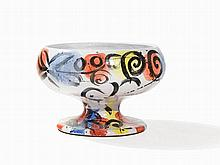 Stefan Szczesny, Bowl Vase with Polychrome Painting, c. 2000