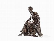 Pierre Aubert, Bronze, Allegory of Hunting, Late 19th C.