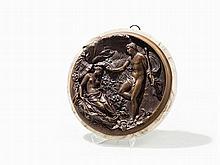 Edward Wyon, Bronze Roundel, Mythological Scene, England, 1848