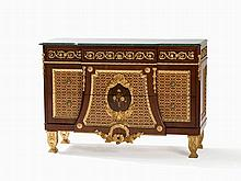 Opulent Sideboard with Beautiful Marble Top, 1990s