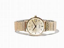 Longines Admiral Wristwatch, 10 K Gold, Switzerland, 1970s