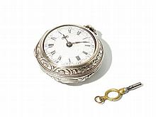 Edward Wicksteed Silver Pocket Watch, England, Around 1750