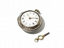 Silver Pocket Watch by John Stokes, England, 1741