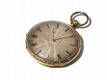 Pierre Morel Gold Plated Pocket Watch, Switzerland, Around 1800