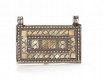 Rectangular Silver Amulet Pendant, Oman, 19th/20th Century