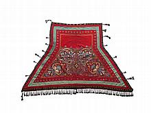 Pomp Horse Blanket with Embroidery, Turkmenistan, 19/20th C