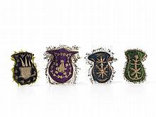 Four Women's Handbags of Velvet, Ottoman Empire, 19th/20th C